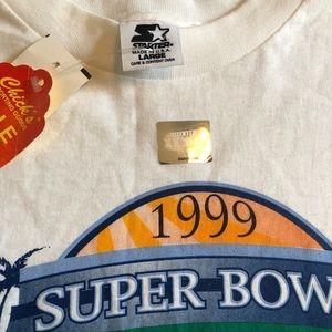 STARTER Shirts - 🏈SOLD🏈 NWT Vintage 1999 NFL Super Bowl Tee